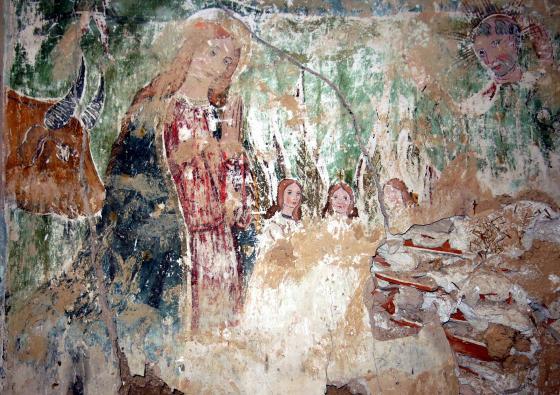 Descubren unas pinturas, del primer tercio del siglo XVI, en la Ermita de la Purísima de Torralba de Calatrava
