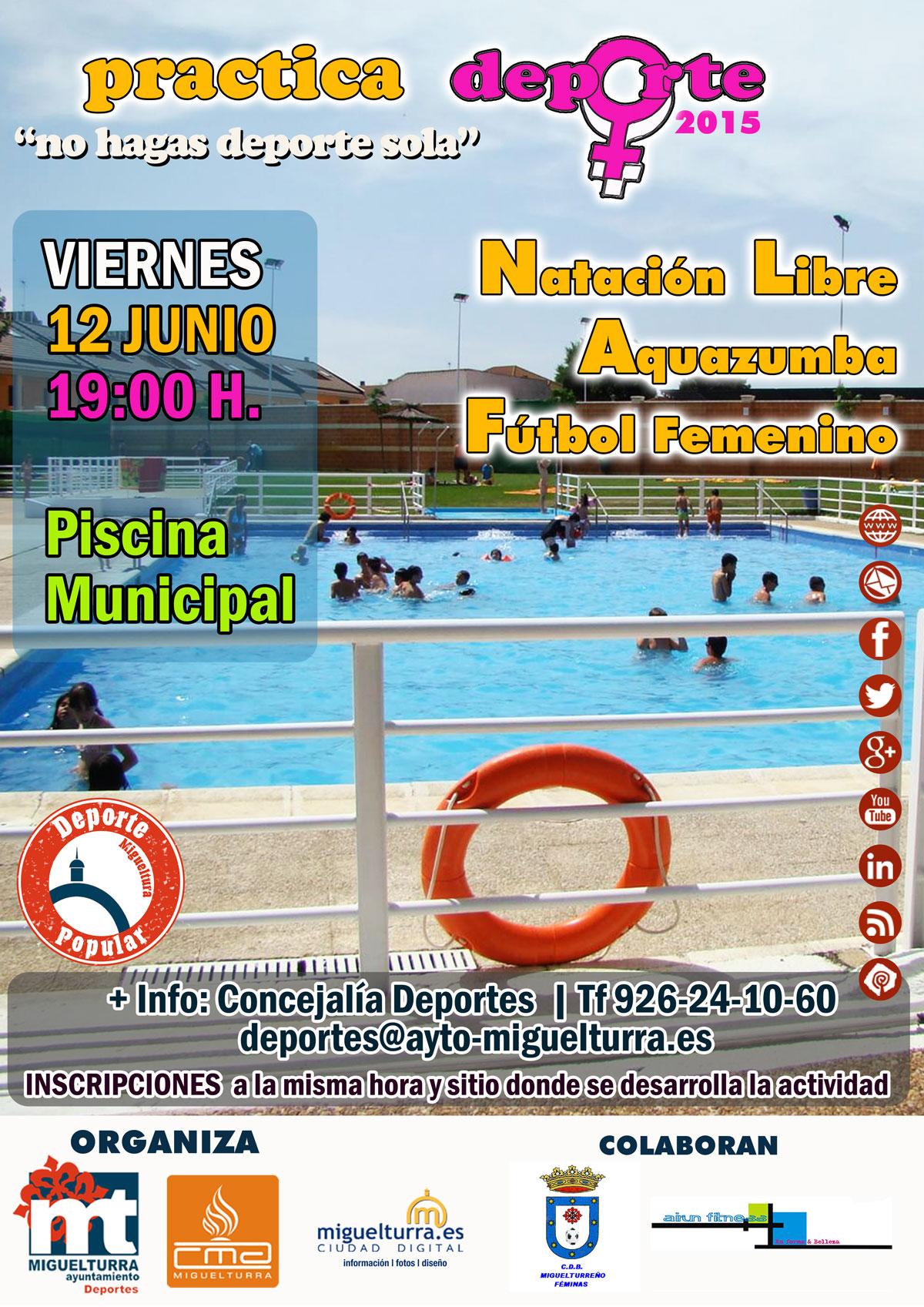 Nueva actividad del programa practica deporte no hagas for Piscina municipal pozuelo