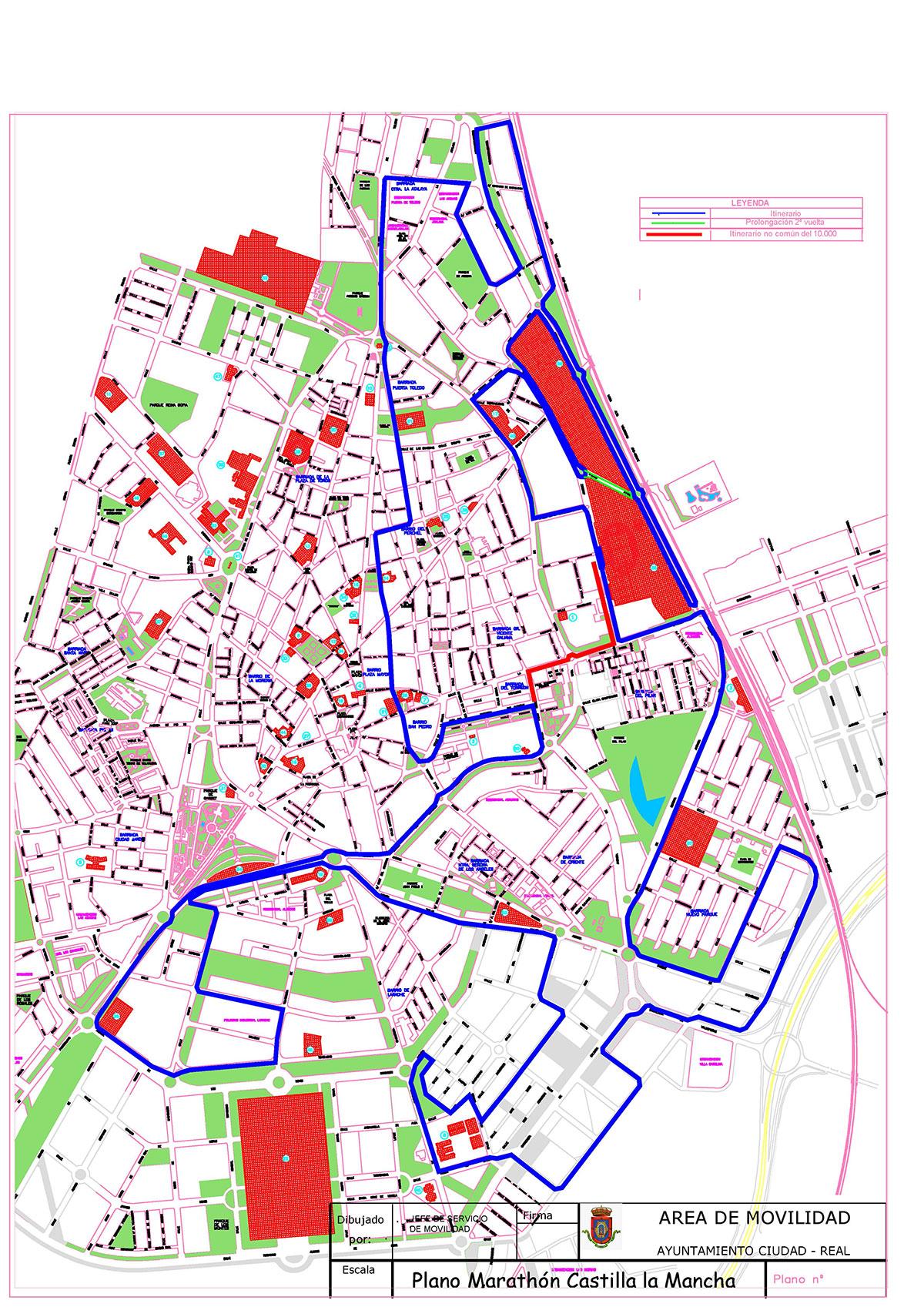 Cortes de tráfico con motivo de la XX Maratón de Castilla-La Mancha el domingo 18 de octubre