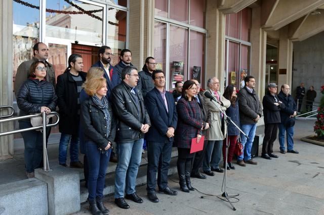 Las instituciones de Ciudad Real guardan un minuto de silencio por los atentados de Bruselas