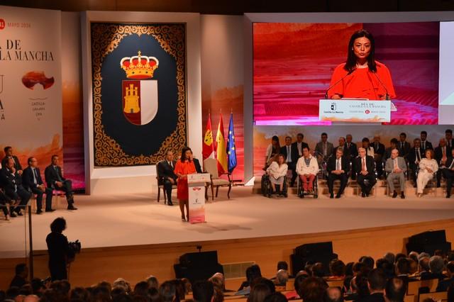 Pilar Zamora muestra el orgullo de Ciudad Real por acoger el Acto de Conmemoración del Día de la Región