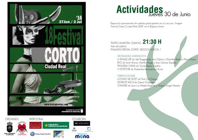 Proyección de cortometrajes de la Sección Oficial 1 en el Teatro Quijano