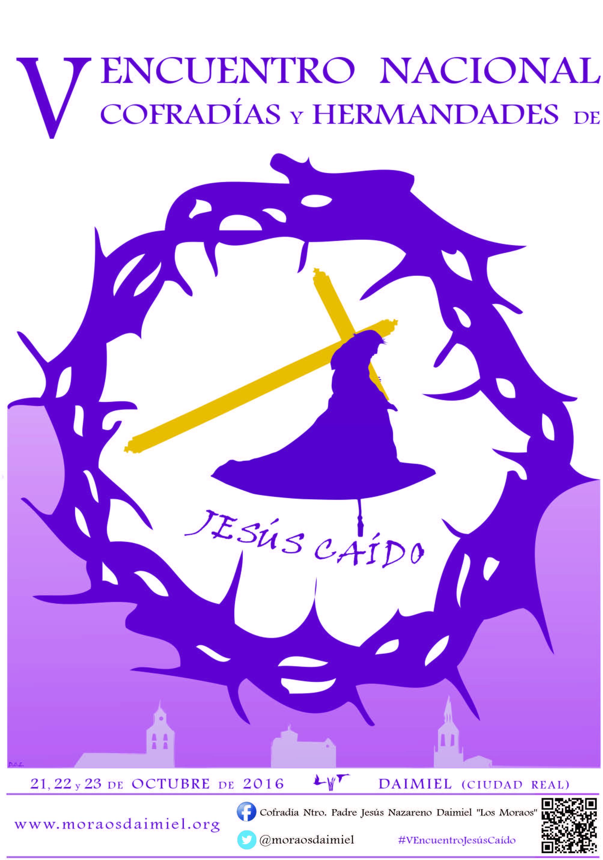 El V Encuentro Nacional de Cofradías y Hermandades de Jesús Caído se celebrará en Daimiel del 21 al 23 de octubre