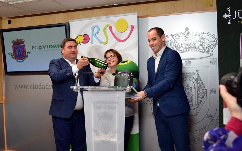 Ayuntamiento de Ciudad Real, Ecovidrio y Consorcio RSU inician un plan de colaboración para promover el reciclado de vidrio