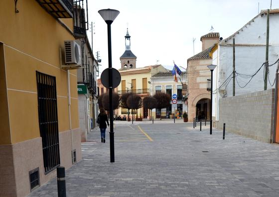 El Ayuntamiento de Carrión termina las obras en la céntrica calle José Cendreros