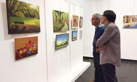 Inauguración de la exposición de Pintura al Óleo dentro de las Jornadas Culturales de las personas participantes de la Universidad Popular de Miguelturra