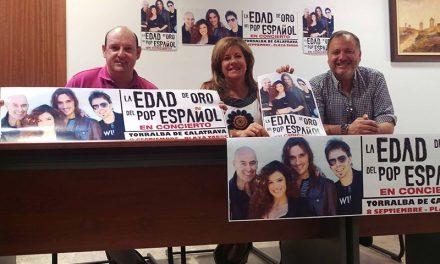 Presentación en Torralba de Calatrava del concierto de 'La Edad de Oro del Pop Español'