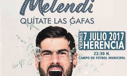 Al Ayuntamiento de Herencia y la revista Ayer&hoy sortean dos entradas dobles para el concierto de Melendi