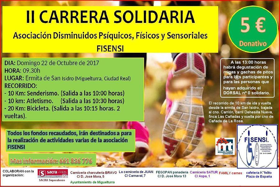 La asociación Fisensi organiza la segunda edición de la «Carrera Solidaria» el domingo 22 de octubre
