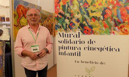 El pintor Exojo colabora en Fecircatur en la confección de un mural solidario para la Fundación Luzón contra la ELA