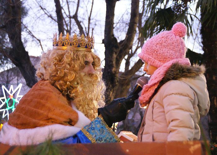 Entrega de cartas a los Reyes Magos