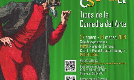 Miguelturra expone «El Carnaval a escena: Tipos de la comedia del arte» hasta el 18 de marzo en la sala de exposiciones del CERE