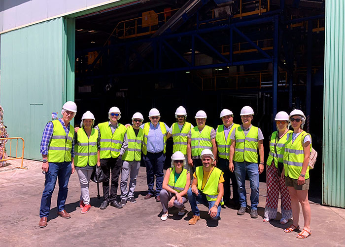 Una delegación de la Fundación Global Nature visita las instalaciones del Consorcio RSU de Ciudad Real