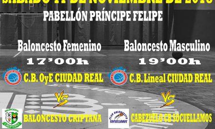 El Príncipe Felipe acoge una doble jornada del Club Baloncesto Ciudad Real