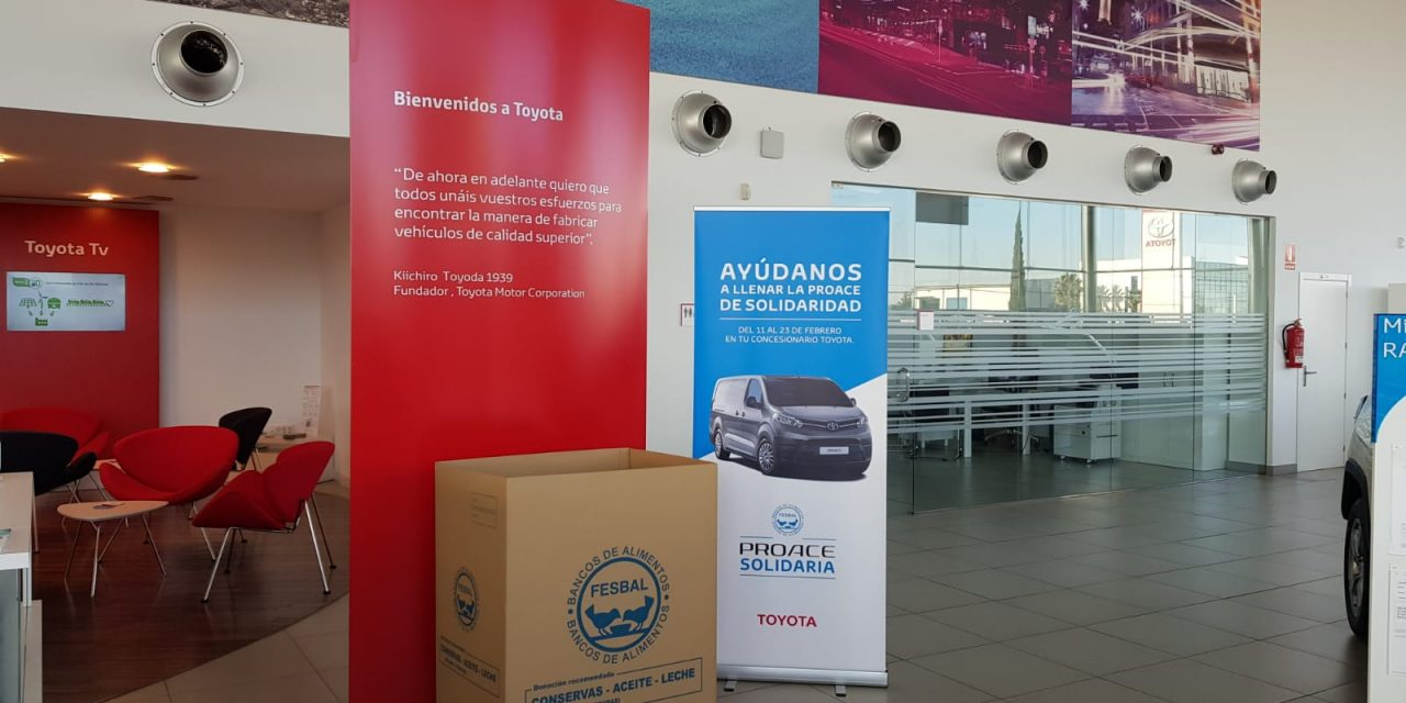 """Toyota Ciudad Real (Tresa Motor), concesionario oficial Toyota para la provincia de Ciudad Real, contribuye con la campaña """"PROACE Solidaria"""""""