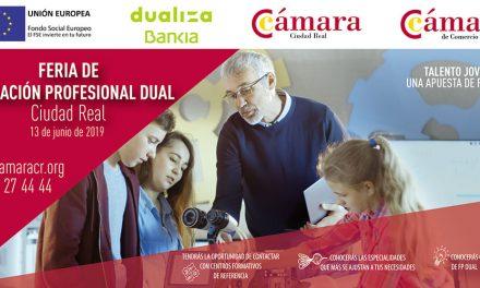 La Cámara de Comercio y la Fundación Bankia organizan el 13 de junio la Feria de FP Dual en la plaza mayor de Ciudad Real