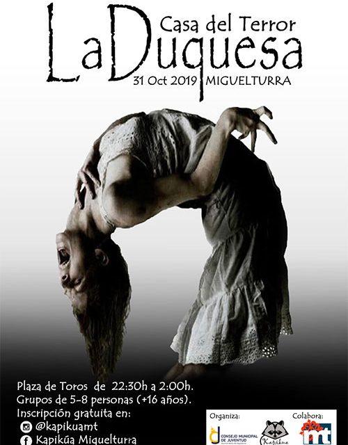 Abiertas las inscripciones para participar en la Casa del Terror «La Duquesa» el jueves 31 de octubre en el Auditorio Multifuncional
