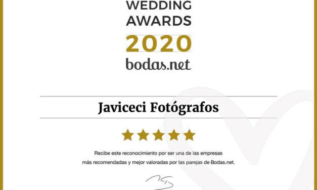 En un año complicado para las bodas, Javiceci Fotógrafos consigue un Wedding Awards de Bodas.net, el premio más prestigioso del sector