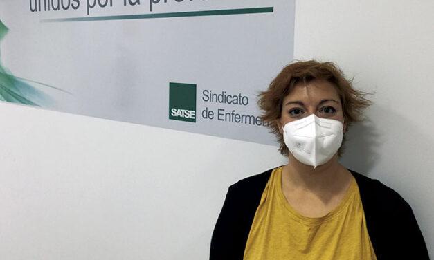 Sara Oropesa Fernández, responsable provincial del Sindicato de Enfermería (SATSE) en Ciudad Real