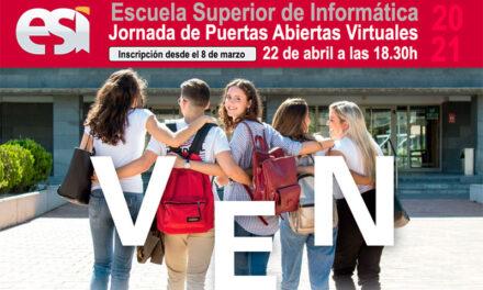 Jornadas de Puertas Abiertas Virtuales en la Escuela Superior de Informática de Ciudad Real