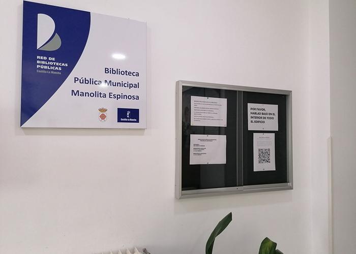 Un código QR muestra las novedades literarias de la Biblioteca Municipal de Almagro